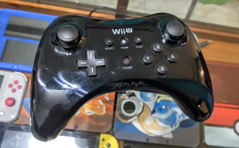 2 wii u pro controller en caja (caja con detalles) 7500